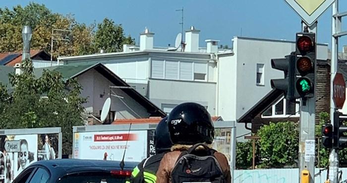 Motoristu iz Zagreba je tablica bila oštećena pa je smislio rješenje kakvo još niste vidjeli