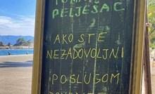 Restoran se obratio nezadovoljnim gostima i svojim natpisom nasmijao prolaznike