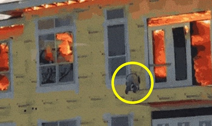 U zgradi je izbio požar, čovjek se spasio na vrlo hrabar način