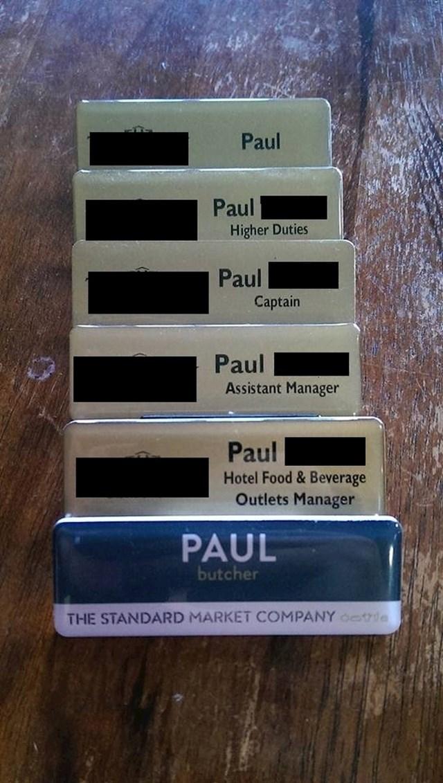 Paul se bavio svime i svačime.