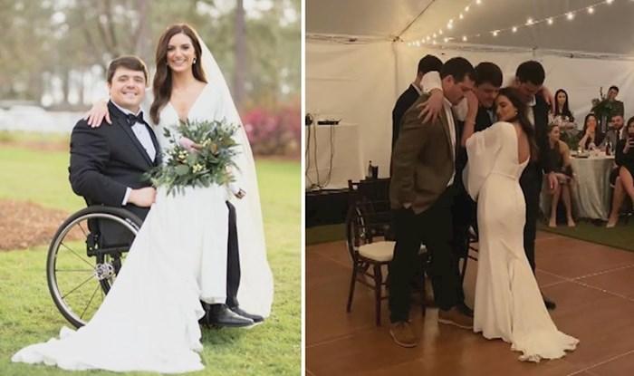Nakon nesreće je ostao paraliziran, prijatelji su mu na vjenčanju pomogli da ispuni svoj san