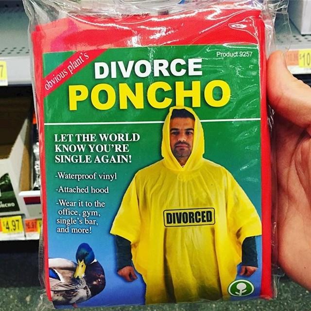 Za one koji svima žele dati do znanja da su se razveli - kabanica za razvedene osobe.