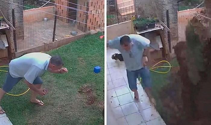 VIDEO Ženi je obećao da će se riješiti žohara, a onda je slučajno raznio cijelo dvorište