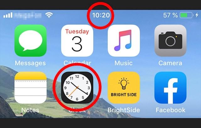 Ikona sata na iPhoneu također prikazuje i točno vrijeme.