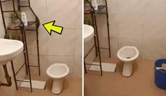 Žena nije mogla vjerovati svojim očima kad je vidjela što se događa u WC-u, pogledajte što je snimila
