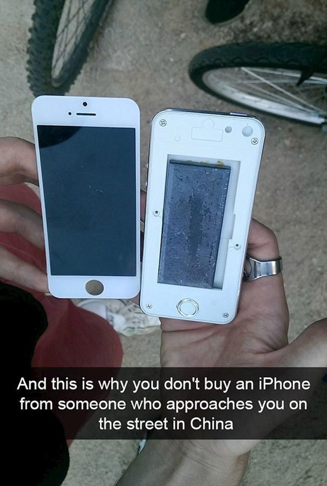 U Kini je kupio (pre)jeftini iPhone, malo kasnije je shvatio što je zapravo dobio.