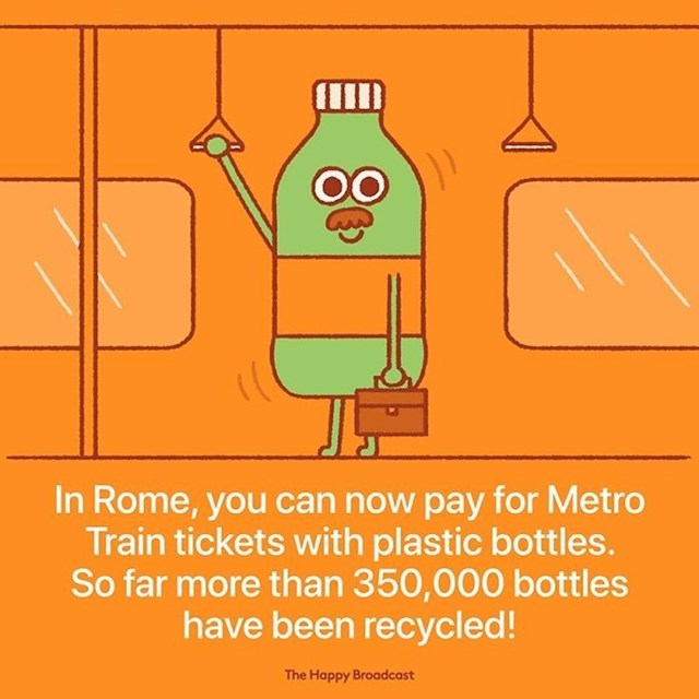 U Rimu kartu za metro možete platiti plastičnim bocama. Do sada je na taj način reciklirano više od 350 tisuća boca!
