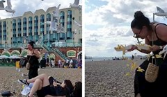 VIDEO Ova žena je na urnebesan način naučila zbog čega nije dobro nositi hranu po plaži