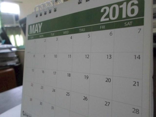 Raspored u pisanju datuma - prvo mjeseci pa onda dani pa godine.