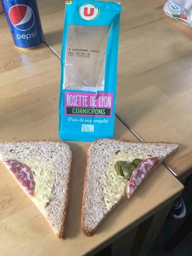 """""""Nadam se da će ljudi koji su napravili ovaj sendvič jesti ovako nešto svaki dan."""""""
