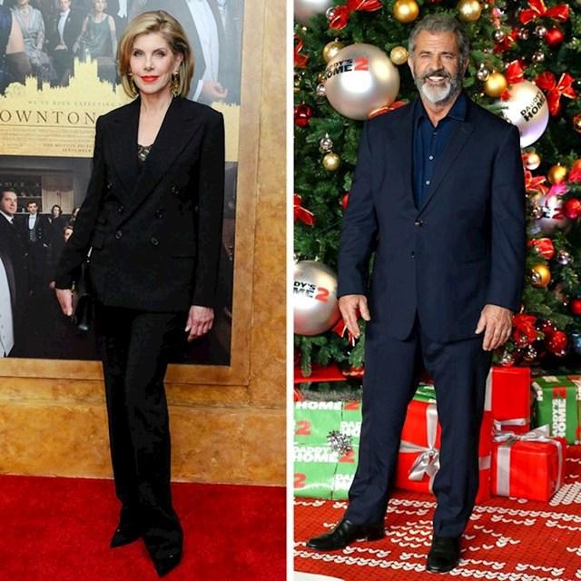 Christine Baranski i Mel Gibson - 177 cm