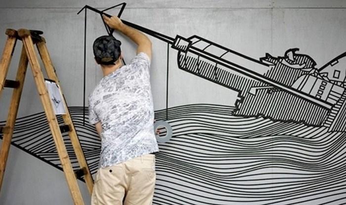 Zanimljiva ulična umjetnost koja se u stvaranju prekrasnih radova koristi samo ljepljivim trakama