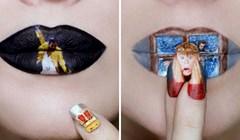Šminkerica koristi svoje usne kao platno i stvara nevjerojatne rekreacije poznatih ljudi i scena