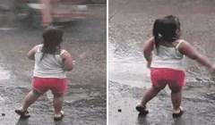 Kišni dani znaju biti teški, ali ova djevojčica ih je iskoristila za ples