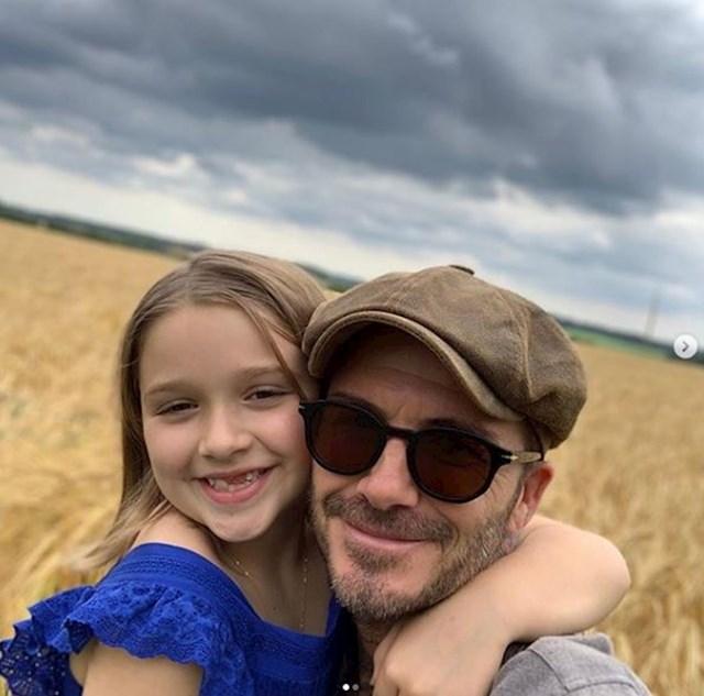 David Beckham i Harper Seven Beckham
