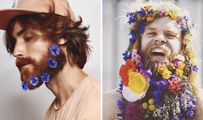 Ovi muškarci vole nositi cvijeće u svojoj bradi, je li to novi trend?