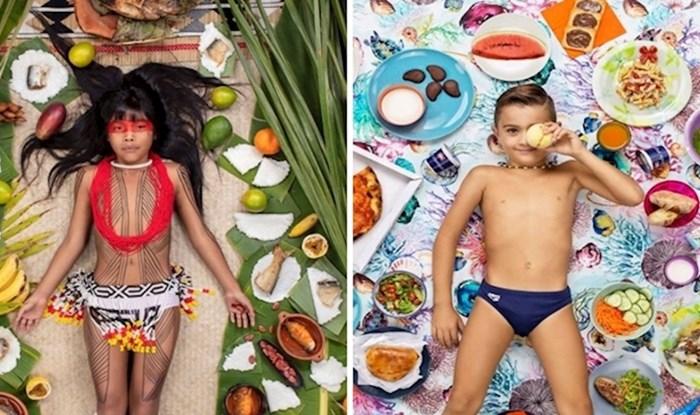 15-ero djece iz različitih dijelova svijeta fotografirano pored hrane koju pojedu u jednom tjednu