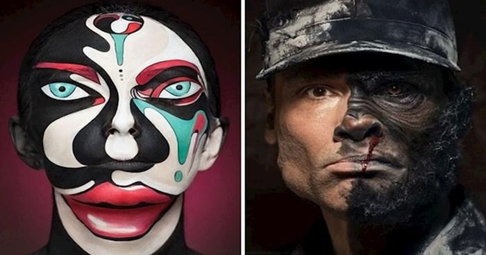 18 fotografija nevjerojatnih iluzija postignutih samo šminkom