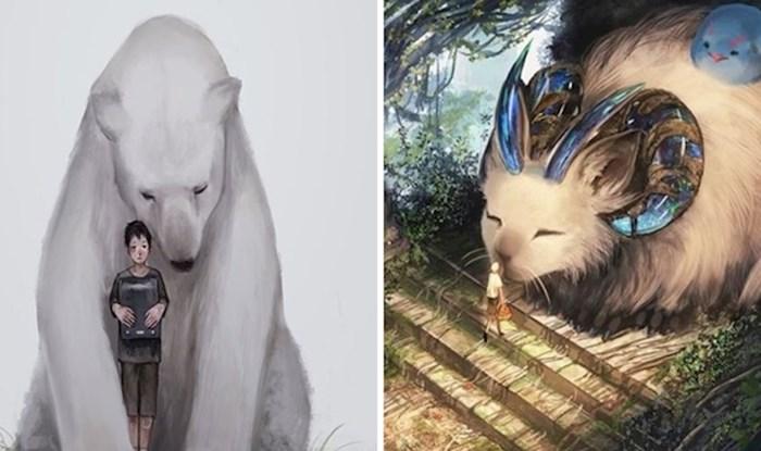 Japanski umjetnik stvorio je magičan svijet sa snažnom porukom, u kojem ljudi i životinje žive u harmoniji