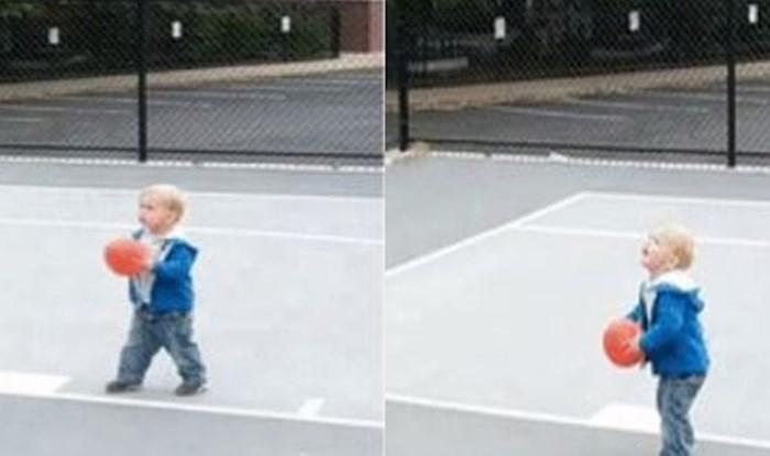 Pogledajte ovaj veseli dječji pokušaj zabijanja vrlo visokog koša