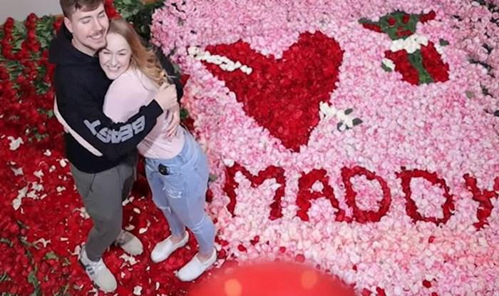 VIDEO Popularni YouTuber za Valentinovo je iznenadio svoju djevojku s čak 100 000 ruža