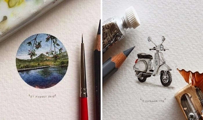 """Ova umjetnica je napravila 365 minijaturnih """"razglednica za mrave"""""""