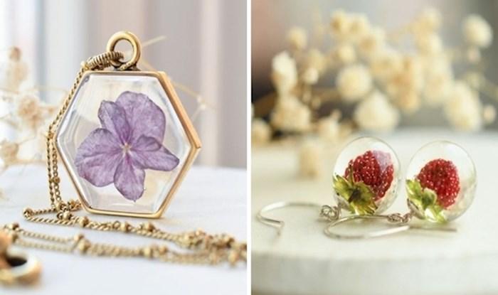 Djevojka čuva pravo cvijeće u smoli i pretvara ga u prekrasan nakit