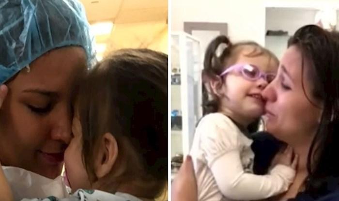 VIDEO Dvogodišnja djevojčica je nakon operacije očiju prvi put vidjela majku