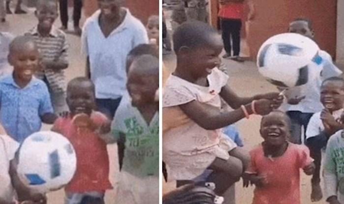 Igra s loptom oduševila djecu u Africi