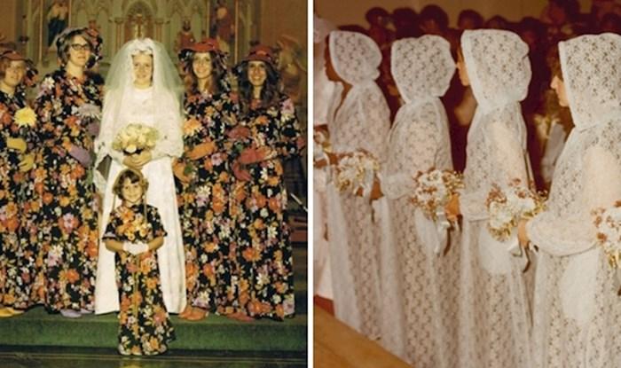 Neobične haljine ovih djeveruša podsjećaju nas na to koliko su se vremena promijenila