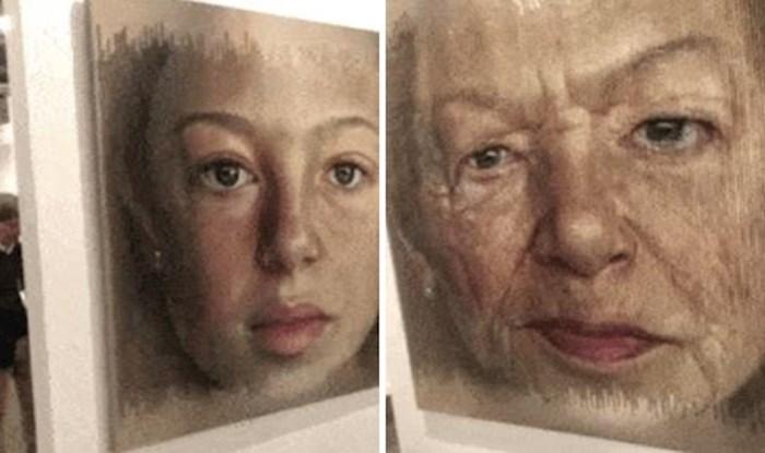 Nevjerojatan portret u isto vrijeme prikazuje mladu djevojku i staricu