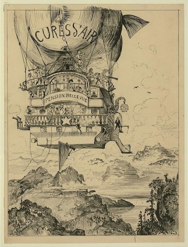 Ova slika prikazuje leteći balon koji se kreće iznad teško dostižnih mjesta, donoseći bolesnim ljudima njihove potrebne lijekove. Ne čini se kao loša ideja, zar ne?