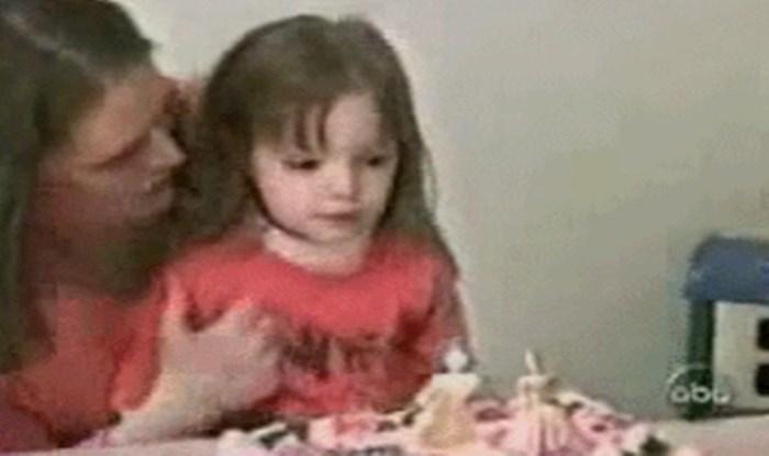 Preslatka slavljenica puhala je svjećicu na torti, no netko je sve upropastio
