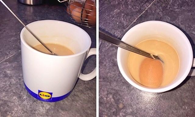"""Stavila sam spužvicu za šminkanje u vodu da se namoči kako bi ju oprala, a moj brat je zabunom popio misleći da je to kava""."