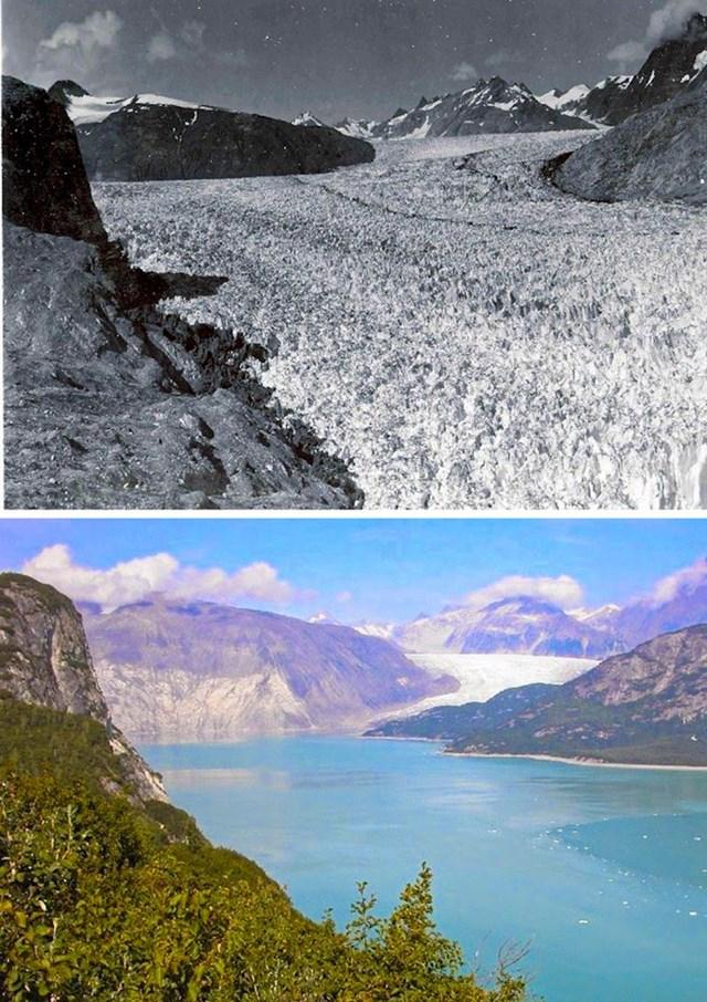 7. Ovaj nekadašnji glečer je do danas postao jezero.
