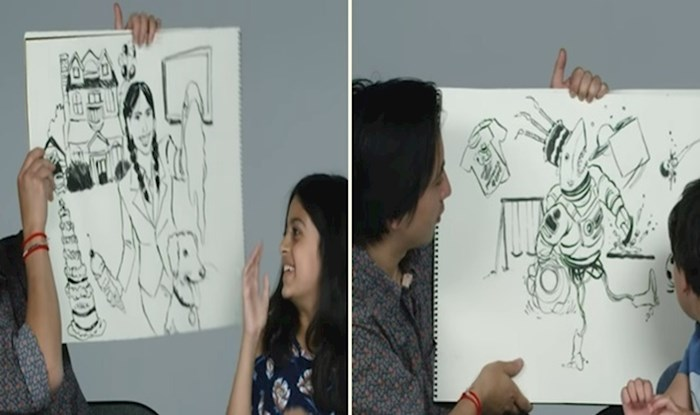 VIDEO Djeca su opisala svojeg budućeg životnog partnera ilustratoru, rezultati su genijalni