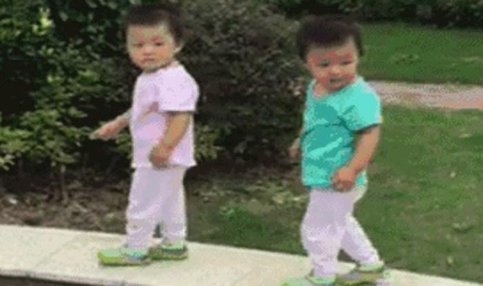 Nećete vjerovati kako su ovi blizanci sinkronizirani, čak i dok padaju