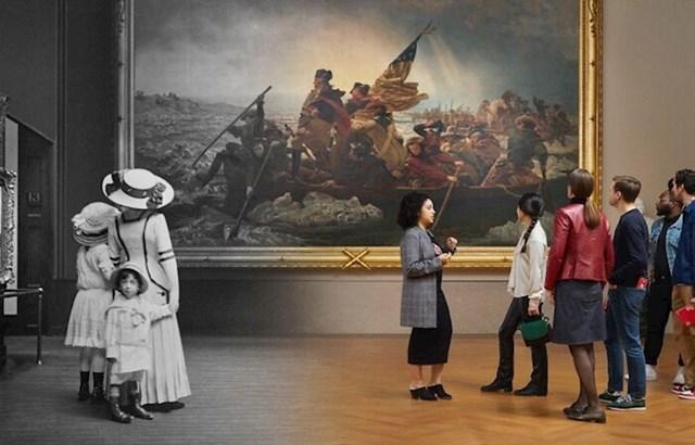 4. Posjetitelji muzeja Metropolitan 1910. i 2019.