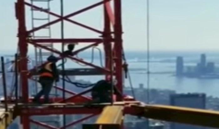 Snimka građevinskog radnika koji radi na neboderima u New Yorku ostavit će vas bez daha