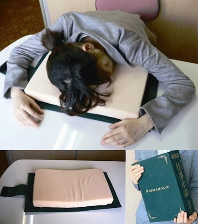14. Jastuk-knjiga za spavanje u školi ili na poslu🤣