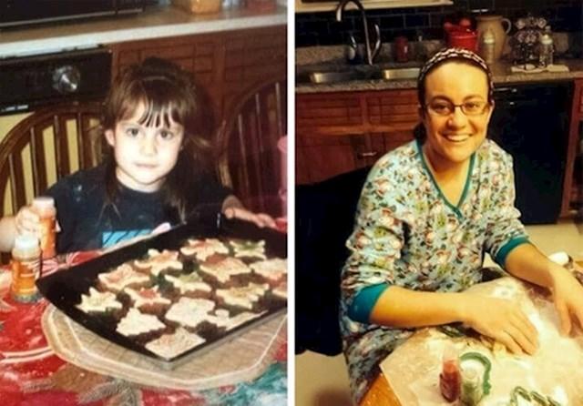 """""""Ovo je moja prijateljica koja od djetinjstva svake godine za Božić radi ove kolačiće."""""""