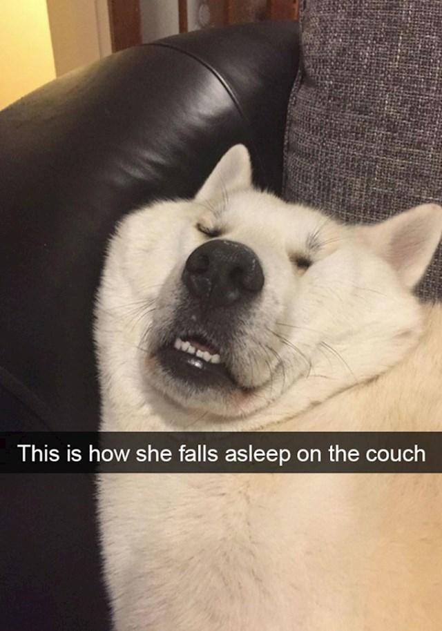 13. Ovako ona spava na kauču..🥰