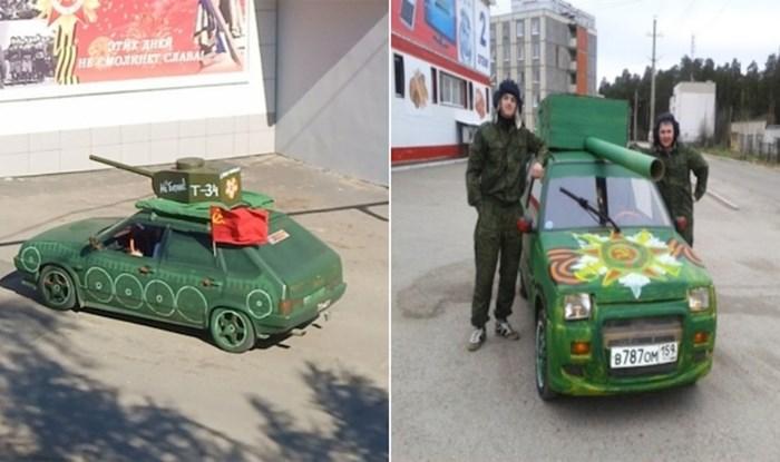 Rusi obožavaju pretvarati svoje automobile u tenkove, pogledajte na što to sliči