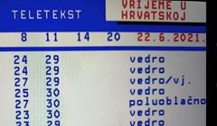 Netko je na teletekstu pronašao bizarnu informaciju o današnjim vremenskim prilikama u Karlovcu