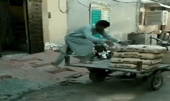 Radnik iz Indije smislio je genijalan trik pomoću kojeg si je olakšao posao