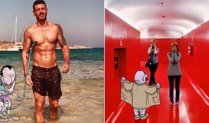 """Umjetnik uzima tuđe fotke s Instagrama i """"napada"""" ih duhovitim ilustracijama"""
