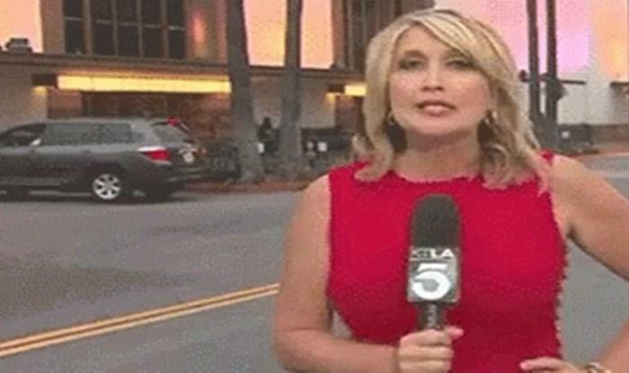 Javljanje uživo ovoj reporterki upropastila je jedna urnebesna situacija