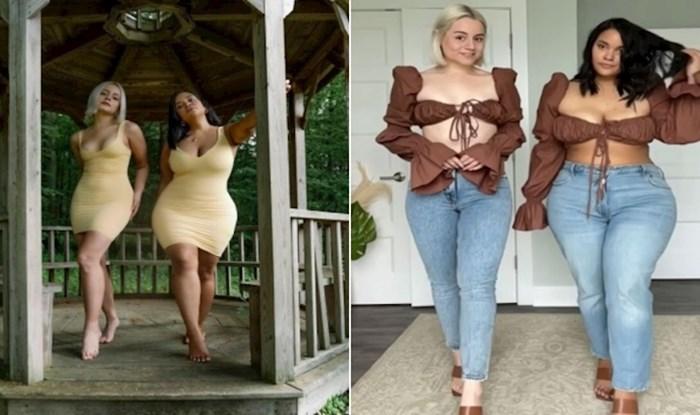 Dvije žene različitih oblika tijela oblače istu odjeću i dokazuju da je stil važniji od veličine