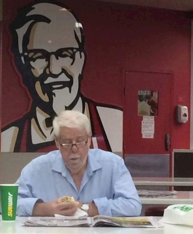 10. Netko je snimio nevjerojatnu slučajnost u KFC-u.