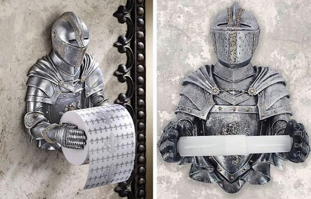 2. Držač za WC papir u obliku srednjovjekovnog viteza